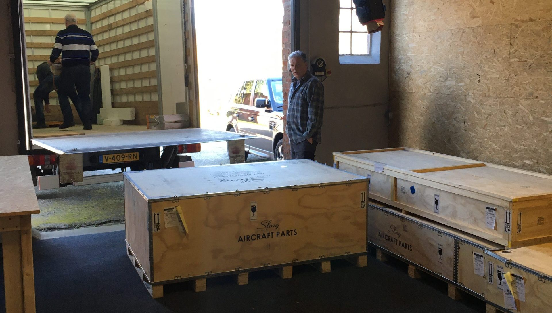 Boxes arriving from TAF